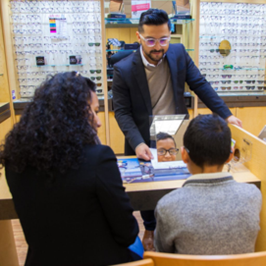 Children's Optometrist in SFV Visually Explaining Eye Exam Results
