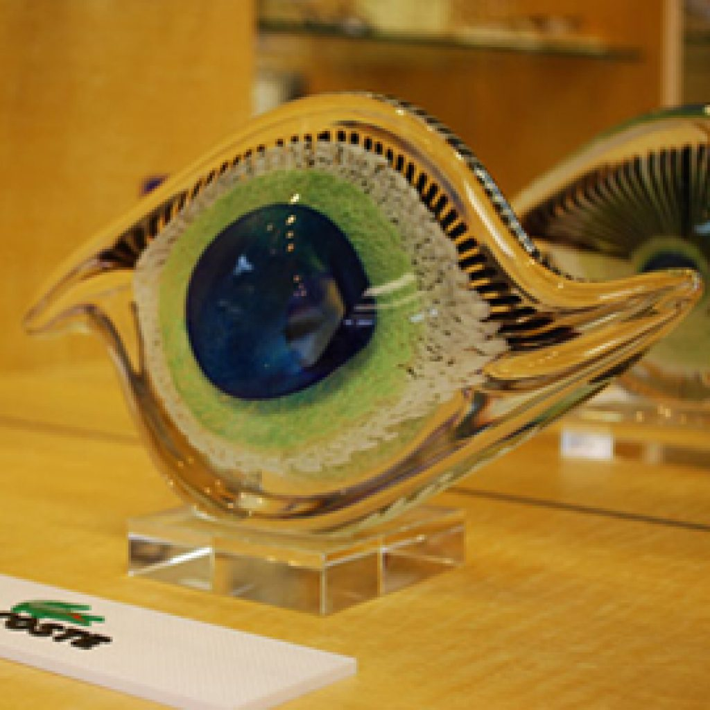 Modern Eye Sculpture in Dr. Leonard's SFV Optometry Office